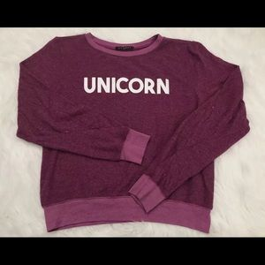 Wildfox Unicorn Pullover Sweatshirt Size Small